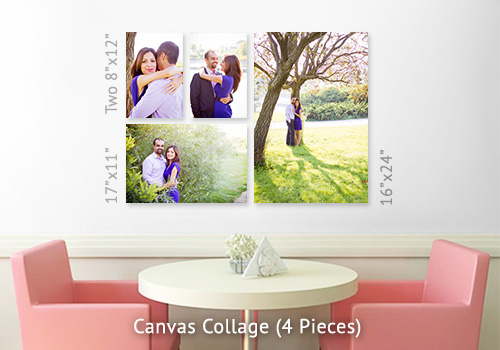 Gallery Wrap Canvas - Collage of 4 pieces